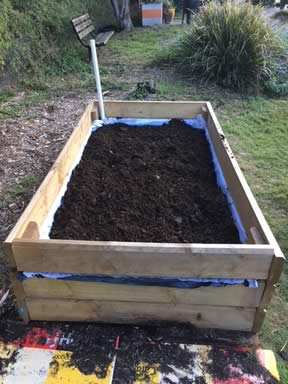 Soil on top